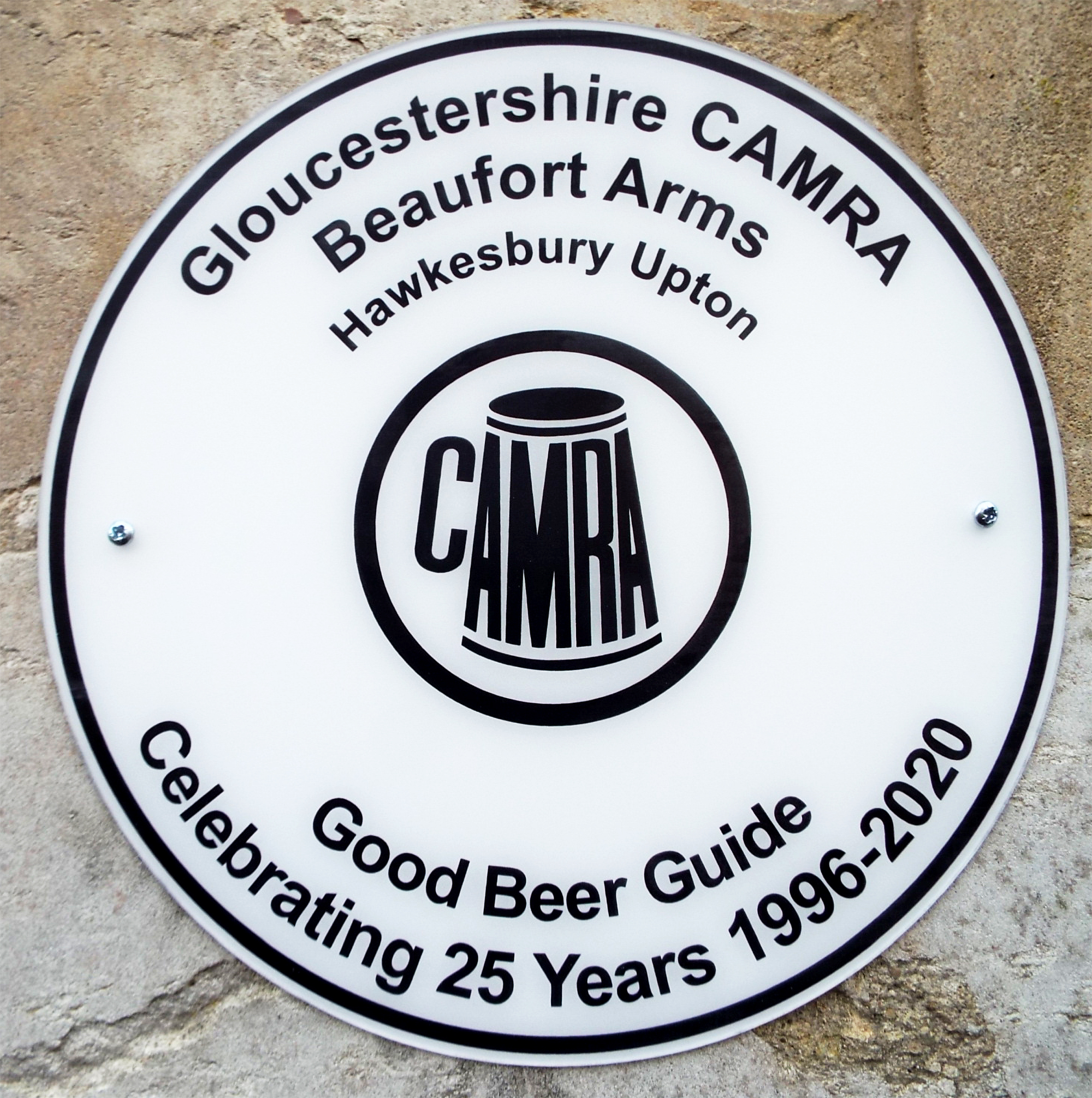 Beaufort 25 Consecutive Years in the Good Beer Guide Wall Plaque