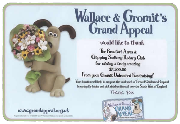 Wallace and Gromit's Grand Appeal Certificate
