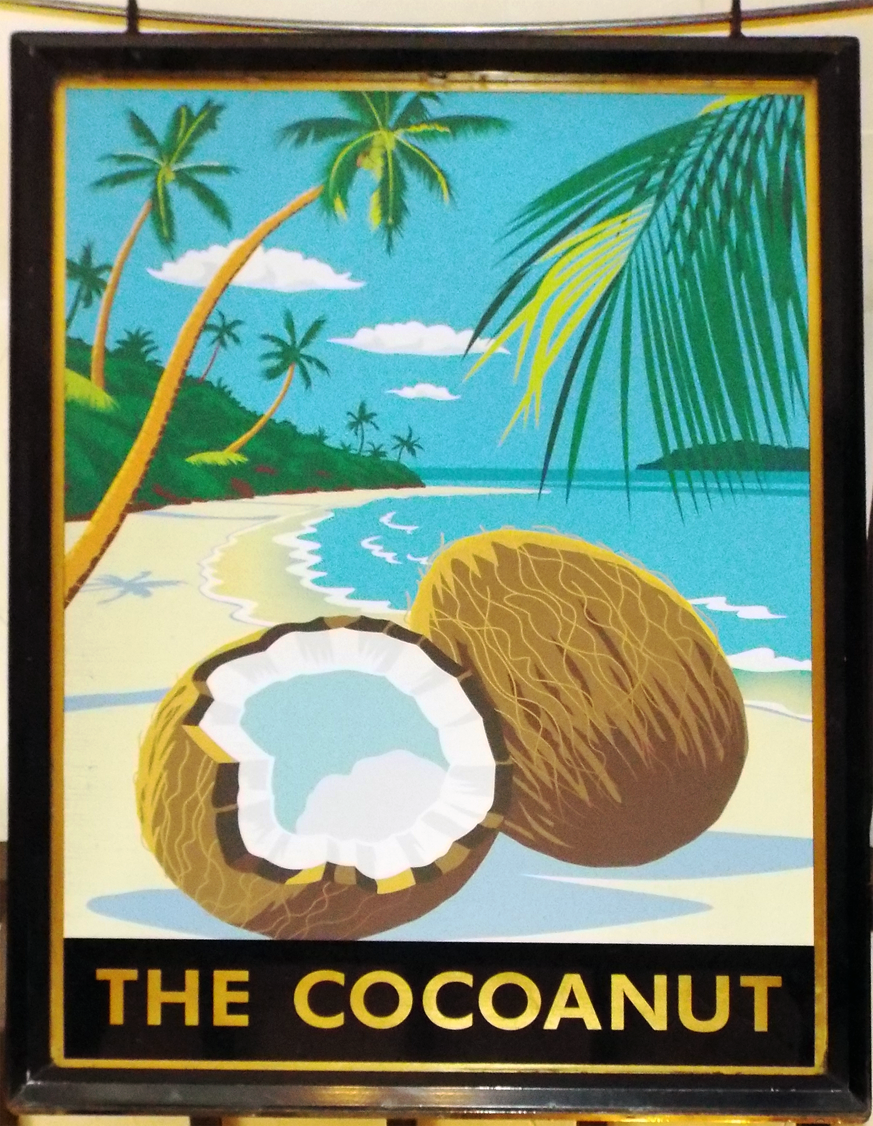 The Cocoanut Pub Sign, Kinston Upon Thames